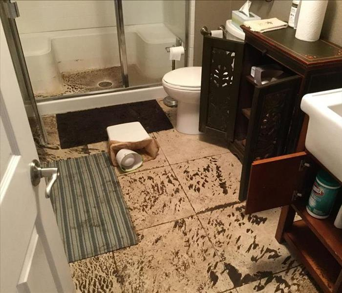 Storm Damaged Bathroom