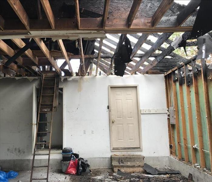 Garage Fire Restoration Project Springfield, MO