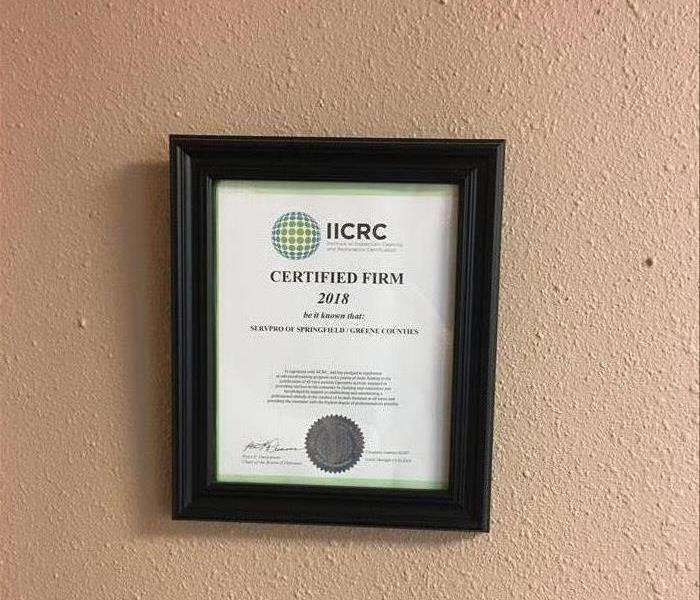 Water Damage SERVPRO of Springfield/Greene County IICRC Certified Firm
