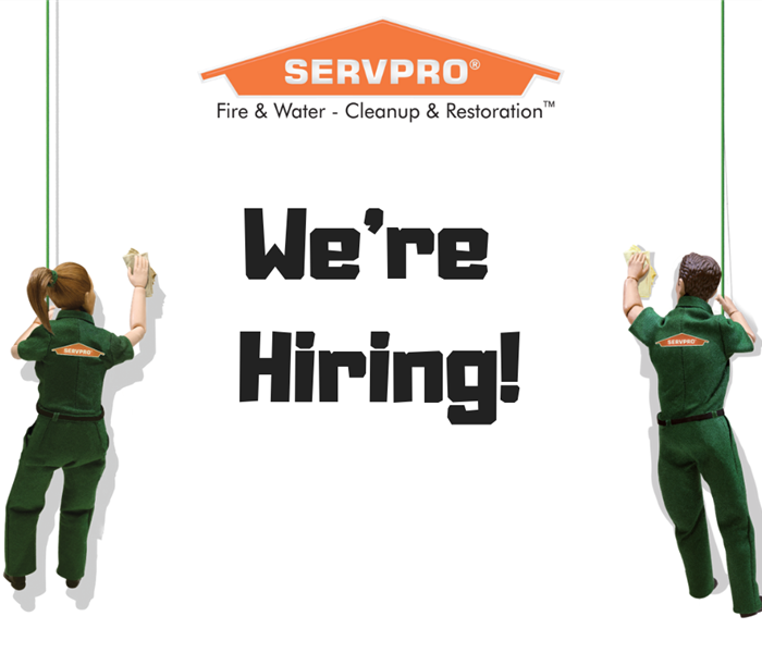 Storm Damage SERVPRO of Springfield/Greene County is Hiring a Production Technician!